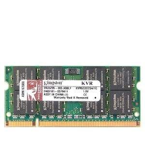 ValueRAM KVR533D2S4/1G 1GB DDR2 RAM PC2 4200 200 Pin Laptop SODIMM
