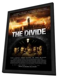 The Divide   11 x 17 Movie Poster   Style C   in Deluxe Wood Frame