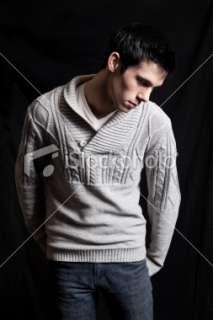 Sad Man ing Down Royalty Free Stock Photo