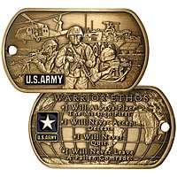 mint u s army warrior ethos dog tag item 34339