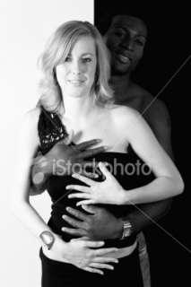 Black man, white girl united colors Royalty Free Stock Photo