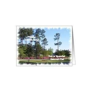 Earth Day Secret Pal, Pine Trees and Azaleas Card Health