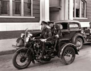 1936 THREE WHEEL HARLEY DAVIDSON POLICE BIKE TRIKE VEHICLE PHOTO