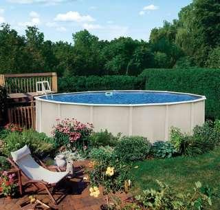 Reprieve 24 x 48 Round Above Ground Metal Frame Swimming Pool Kit