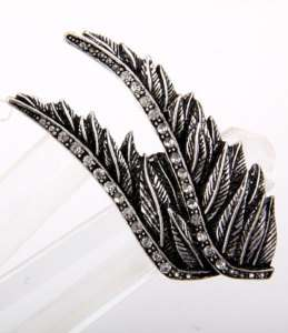 New Large Angel Wings Rhinestone Cocktail Stretch Ring