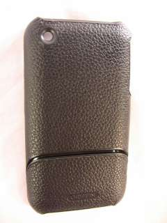Apple iPhone Case Elan Form 3G 3GS Black Leather Skin
