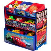 Disney   Cars Multi Bin Toy Organizer Disney   Cars Multi Bin Toy