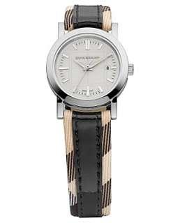 Burberry Timepiece, Womens Black Leather Strap BU1396   Burberry