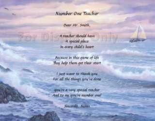 Personalized Poem For Teacher Christmas Gift Idea