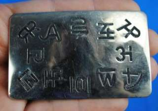 Western Cattle Branding Iron Brand Chambers Belt Buckle USA