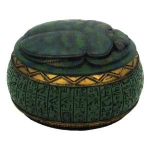 Egyptian Scarab Beetle Jewelry / Trinket Box  Home