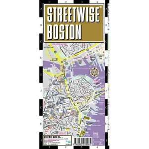 Streetwise Boston Map   Laminated City Street Map of Boston