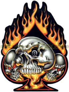 TRIBAL FLAMES SKULL DECAL HARD HAT TOOL BOX HELMET SURF