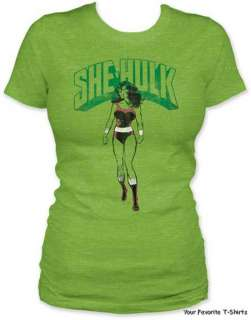 Licensed Marvel Comics She Hulk Women Junior Tee Shirt S XL