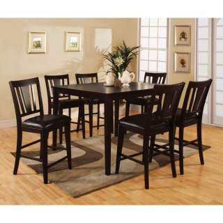 Solid Wood 7 pc Counter Height Dining Set