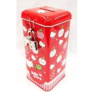 Licensed Sanrio Hello Kitty Coin Bank with Lock   Red (Rectangle Shape