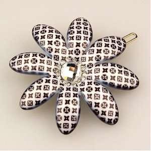 Pinwheel   Picabia Collection (Hand set Swarovski Crystals, Hair Pin