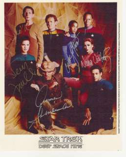 Deep space Nine Star Trek Signed Autograph 5 CAST