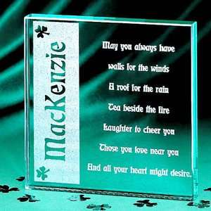Personalized Irish Blessing Glass Block Personalized Gifts