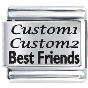 Friends Custom Laser Italian Charms Bracelet Link Pugster Jewelry