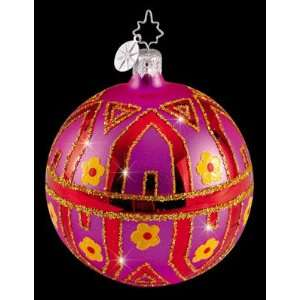 RADKO TIFFANY COLORFUL GEM 2.5 Glass Ornament