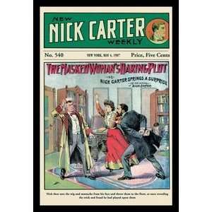 Nick Carter The Masked Womans Daring Plot   12x18 Gallery Wrapped