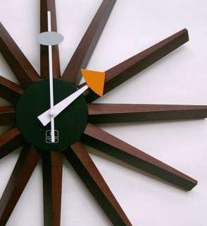 RETRO Mod SPIKE CLOCK Danish MODERN Eames ERA High Quality