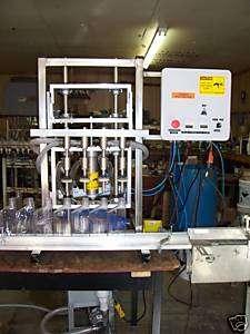 Overflow filling machine, piston filler, pump filler