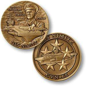 US NAVY USS NIMITZ MILITARY CHALLENGE COIN *LOOK*