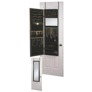 Over the Door Full Length (2) Dual Mirror Cabinet (Black) NEW