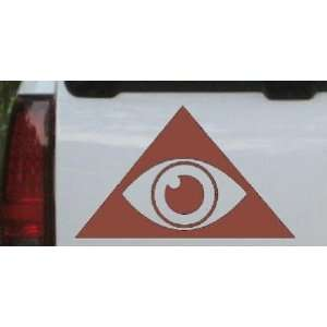 Brown 34in X 20.8in    Illuminati Eye Masonic Car Window Wall Laptop
