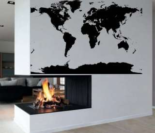 Big Global Atlas World Map Vinyl Wall Art Decal Sticker