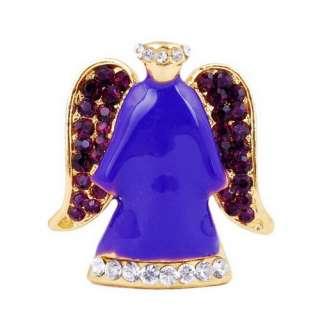 W28079 purple angel alloy brooch pin W 1pcs