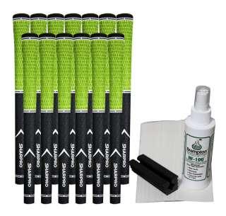 DualCord Velvet Pride Lime Green Golf Grips + ReGrip Kit