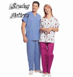 McCalls 5350 Unisex Uniform Scrubs Seps Sewing Pattern