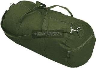Olive Drab Military Heavy Duty Canvas Shoulder Duffle Bag (24 x 12