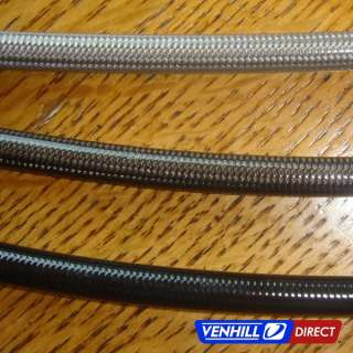 Venhill Braided Stainless Brake Line Coated Braid Closeup