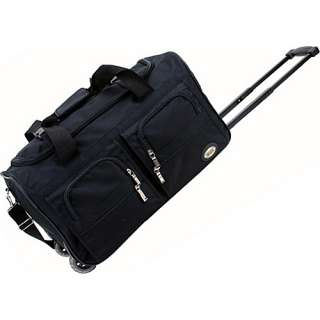 Rockland Luggage 22 Rolling Duffle Bag   Black