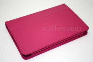 Kindle Fire PU Leather Folio Case Cover With Stand Hot Pink