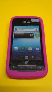 NET10 LG Optimus Net ANDROID HIGH QUALITY HOT PINK SILICONE CASE COVER