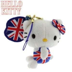 Union Jack Sanrio Hello Kitty Plush Doll Cell Phone Charm Electronics
