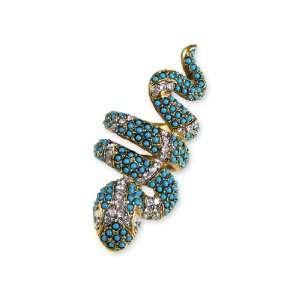 Kenneth Jay Lane Ring   Snake Extra Large Turquoise Beads