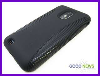Samsung Galaxy S2   Black Double Layer Impact Hard Case Phone Cover