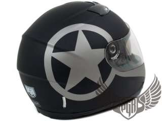 Dual Visor Full Face Motorcycle Helmet Matte Black ~ XL