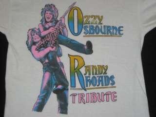 VTG OZZY OSBOURNE RANDY RHOADS TRIBUTE 1987 T SHIRT
