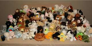 and Lil Kinz huge lot stuffed plush retired NO CODE Ganz