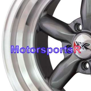 16 16x8 XXR 512 Gun Metal Rims Wheels Deep Dish 69 70 71 72 73 Ford