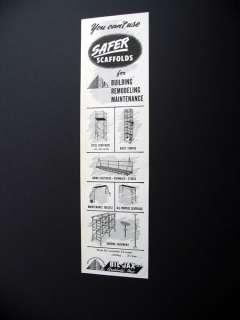 Bil Jax Scaffolds Scaffolding 1958 print Ad