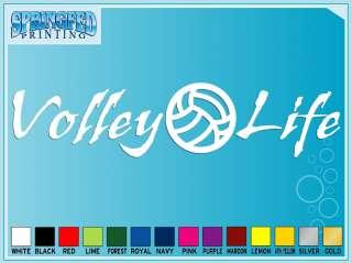 VOLLEY LIFE Volleyball cut vinyl decal sticker Bump Set