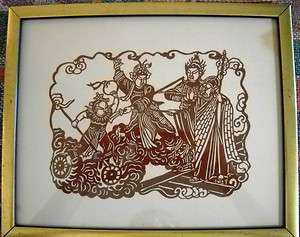 Katagami Japanese paper dyeing stencil painting